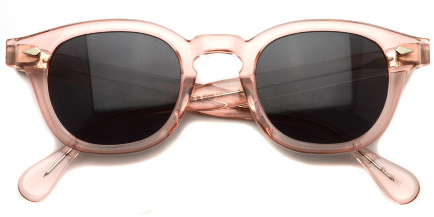 JULIUS TART OPTICAL / AR Sun/ Flesh Pink - Dark Grey Lenses / Bridge : 24mm / ¥40,000+tax