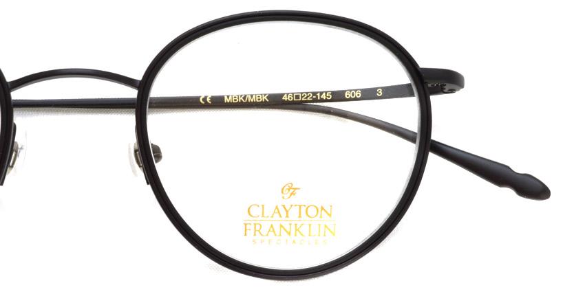 CLAYTON FRANKLIN / 606 / MBK/MBK / ¥30,000 + tax