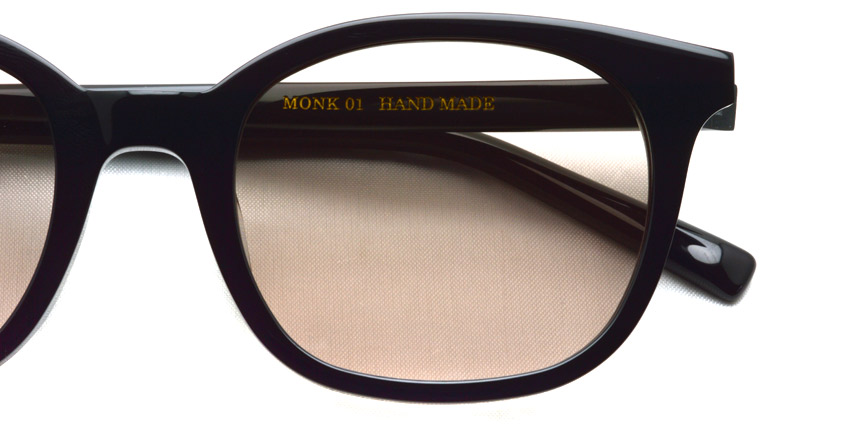 A.D.S.R. / MONK01(b) / Shiny Black - Light Brown Lenses / ¥18,000 + tax