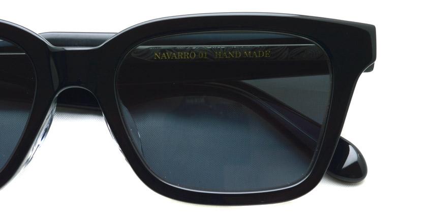 A.D.S.R. / NAVARRO01 / Shiny Black & Clear Black - Black Lenses / ¥18,000 + tax