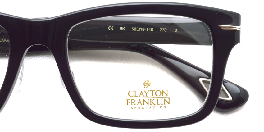 CLAYTON FRANKLIN / CF-770 / BK / ¥28,000 +tax