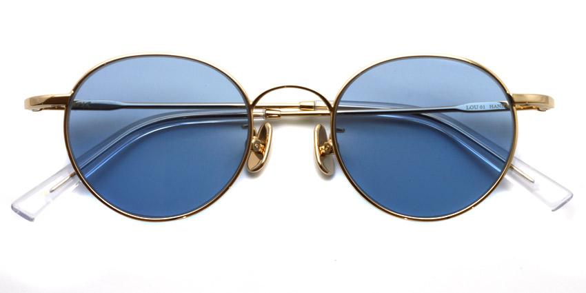 A.D.S.R. / LOU01(b) / Gold - Light Blue/ ¥19,000 +tax