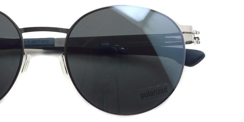 ic!berlin / Liliya S. / Chrome - Dark Gray light silver mirror (POLAR) / ¥53,000 +tax