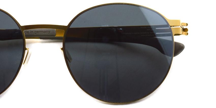 ic!berlin / Liliya S. / Matt Gold - Dark Grey light silver mirror / ¥53,000 +tax