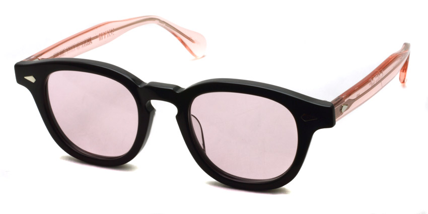 JULIUS TART OPTICAL x HYKE / AR Sun / Black/Flesh Pink - Lighr pink lenses / ¥39,000 +tax