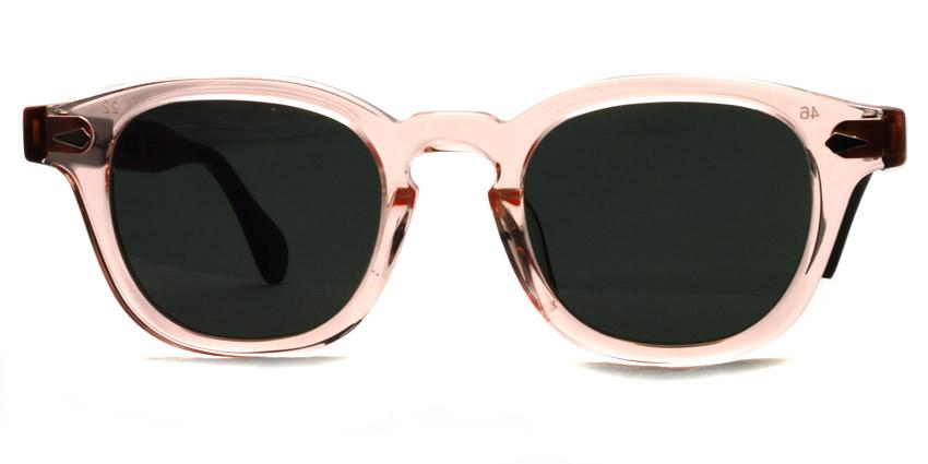 JULIUS TART OPTICAL x HYKE / AR Sun / Flesh Pink/Black - Dark Gray lenses / ¥39,000 +tax