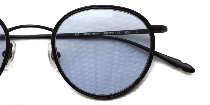 CLAYTON FRANKLIN / 606 Sun / MBK/MBK - Light Blue Purple Lenses / ¥33,000 + tax
